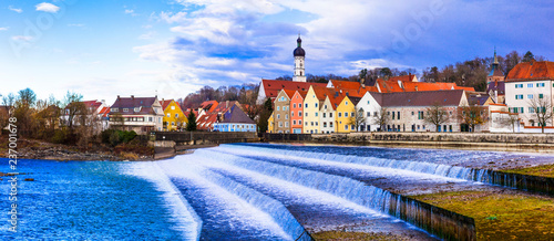 Landsberg am Lech - beautiful town in Bavaria. Travel in Germany