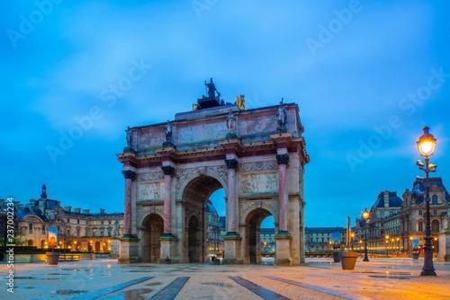 Spoed Foto op Canvas Centraal Europa Carousel du Louvre in Paris France