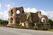 Ruins Of Imperial Thermae In Trier, Germany. The Roman Bath-house Was Built During The 4th Century And Was The Largest Thermae North Of The Alps.