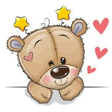 Cute Teddy Bear On A White Background