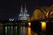 Köln, Hohenzollernbrücke, Kölner Dom, Rhein, Skyline