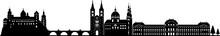 Würzburg Skyline Detailliert // Vektor