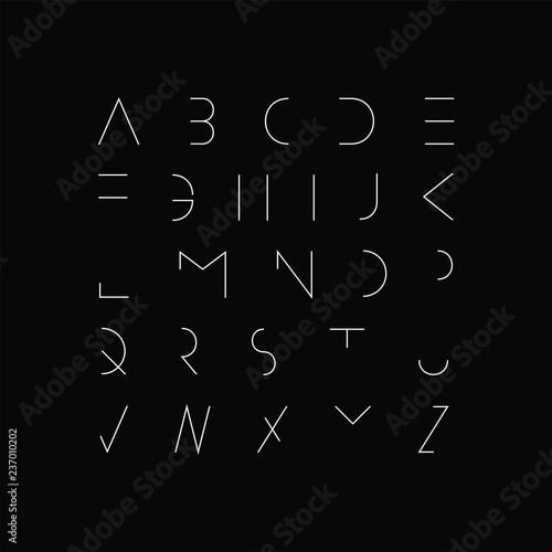Vector minimal font - modern futuristic design  Creative