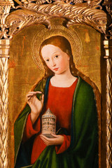 Altarpiece of St Nicolas in Monaco Cathedral - Mary Magdalene