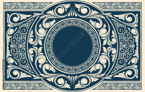 Obraz Vintage decorative ornate card - fototapety do salonu