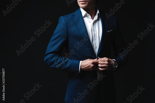 Elegant young handsome man. Studio fashion portrait Fototapet