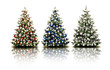 Bunte Weihnachtsbäume