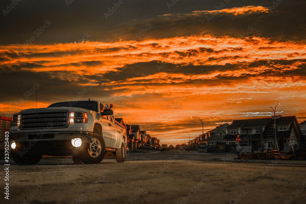 Fototapety, obrazy: Orange Sky Pickup