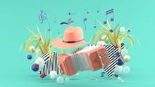 Accordion And A Cowboy Hat Amo...