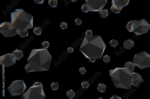 Geometric 3d Illustration Of Black Wallpaper Black Diamonds