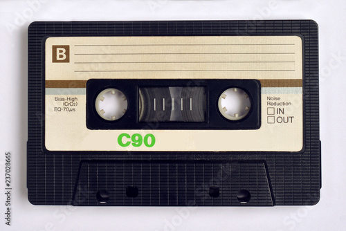 Close up of audiocassette tapes. Wallpaper Mural