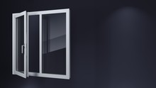 Modern Open White Windows