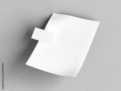 Fotografie, Obraz  papier i wizytówka