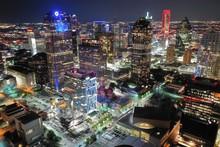 Aerial View Of Dallas Texas At Night