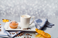 Cup Of Coffee And A Muffins