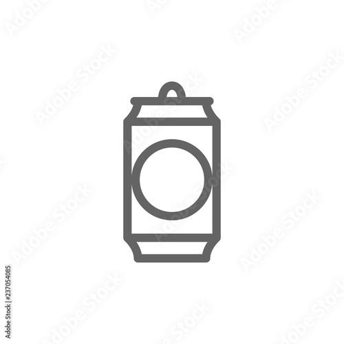 Fotografía Simple beer can line icon