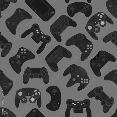 kontroler-gier-wideo-gamepad-tlo-gadzety-bezszwowy-wzor