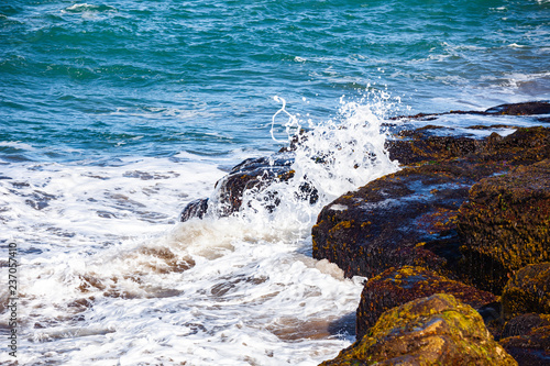waves of the Atlantic Ocean crashing against the rocks