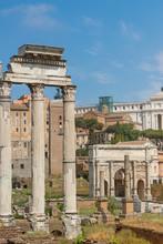 Ruins Of The Forum Romanum. Rome, Italy.