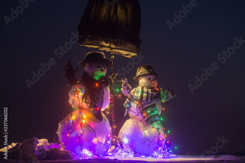 Photo  Christmas decorated in courtyard