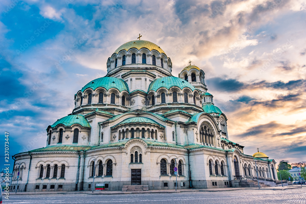 Fototapety, obrazy: The Aleksander Nevsky Orthodox Cathedral of Sofia, Bulgaria
