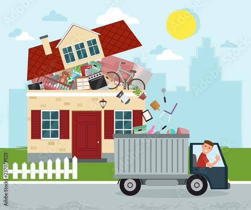 Cuadros en Lienzo The concept of excessive consumerism