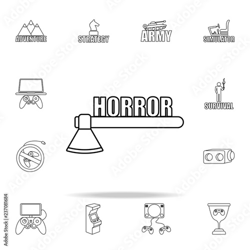 logo horror games icon Wallpaper Mural