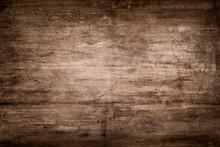 Dark Brown Wood Texture With S...