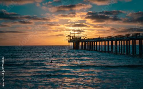 La Jolla pier at Sunset