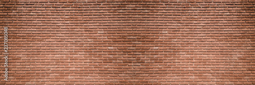 Deurstickers Baksteen muur brick wall, wide panorama of masonry