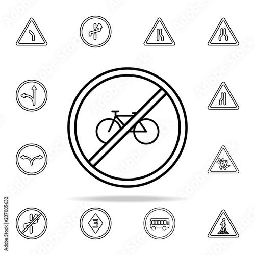 Fotografía  bicycle is prohibited icon