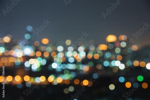 Fényképezés  blur image of city at night