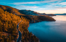 Aerial Of Lake Tahoe