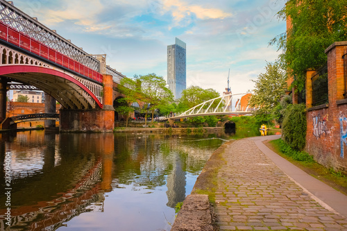 Castlefield - an inner city conservation area in Manchester, UK Canvas Print