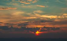 Sunrise At Doi Samer Dao Sri Nan National Park Thailand