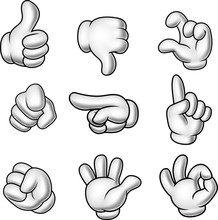 Cartoon Gloved Hands Collection
