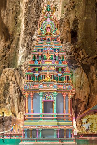 Vászonkép Hinduistic shrine in the Batu Cave, Kuala Lumpur
