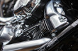 A motorcycle engine close up detail background