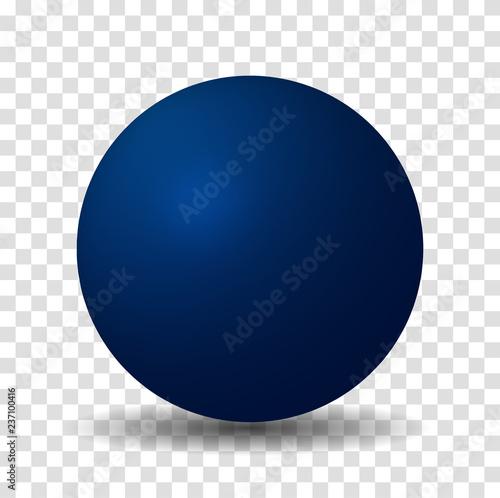 Fotomural  Blue Sphere Ball