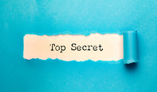 Top Secret With Torn Paper