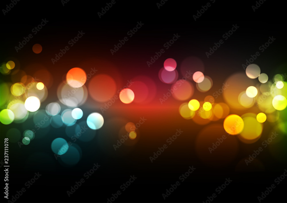 Fototapety, obrazy: Abstract Bokeh Lights Background