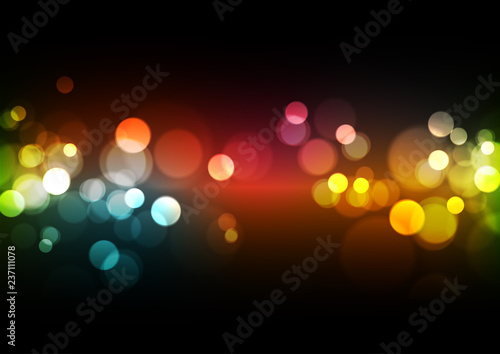 Fotografiet Abstract Bokeh Lights Background