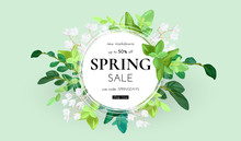 Floral Spring Design With Whit...