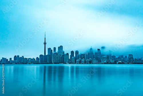 Tuinposter Toronto Skyline of Toronto on a cold morning