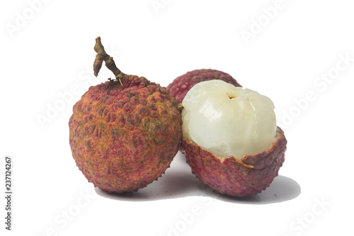lychee  fruit isolated on white background