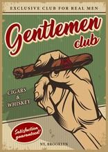 Vintage Men's Club Colorful Poster