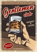 Vintage Gentlemen Club Advertising Template
