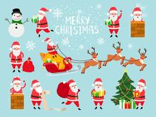 Funny Vector Santa. Cute Vecto...