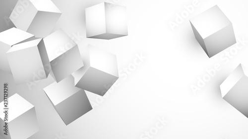 Obraz białe sześciany tło wektor - fototapety do salonu