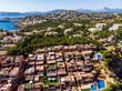 canvas print picture Aerial view, Spain, Balearic Islands, Mallorca, Santa Ponca area, El Toro, luxury marina Port Adriano